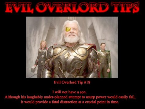 Odin, Thor and Loki.