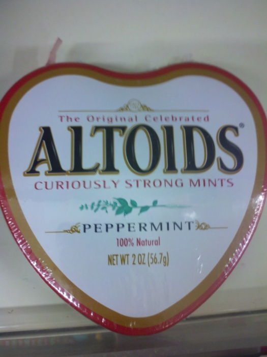 Happy Valentines day love... Have a breath mint!