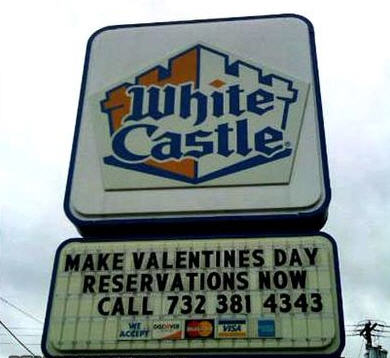 """Sweetheart I made us reservations at an amazing castle for Valentines day"""