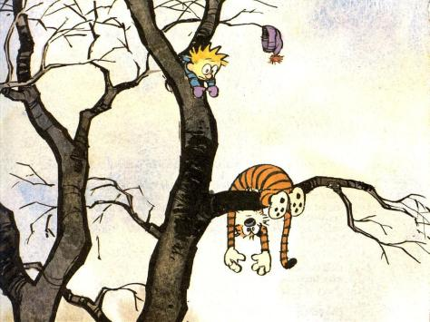Image result for calvin and hobbs tree climbing